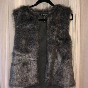Fur sweater vest